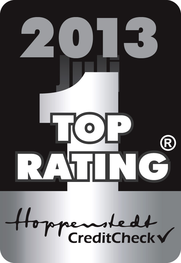 Hoppenstedt CreditCheck 2013 Top Rating Silber