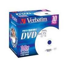 Verbatim DVD-R 4,7GB 16x IW JC (10), PAK[10]