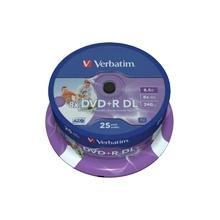 Verbatim DVD+R DL 8,5GB 8x IW SP(25), PAK[25]